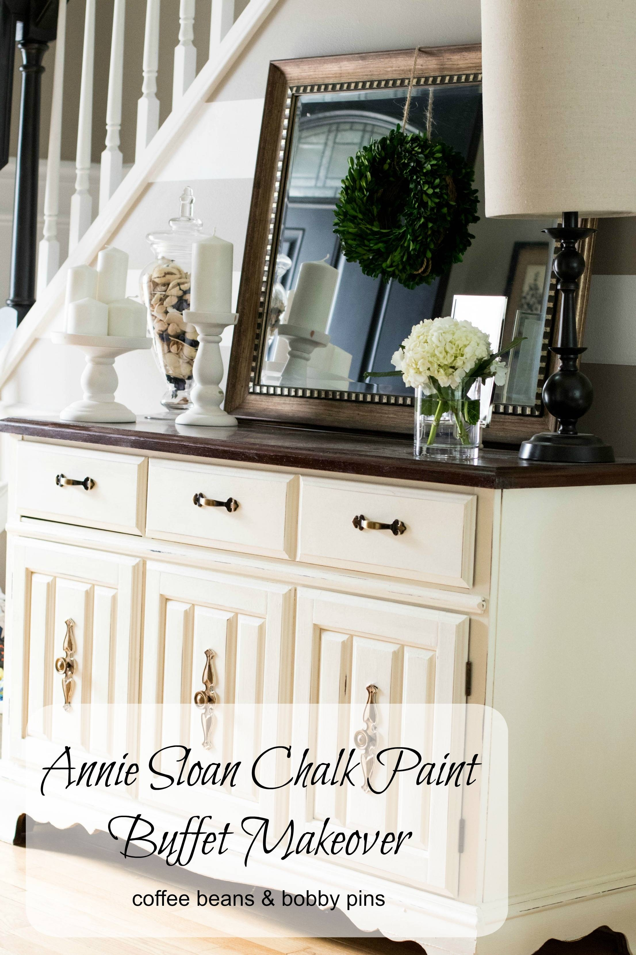 Annie Sloan Chalk Paint: Buffet Makeover | Coffee Beans And Bobby Pins Intended For Chalk Painted Sideboards (View 2 of 15)