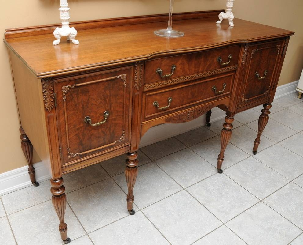 Antique Buffet Sideboard Solid Wood — New Decoration : Antique within Antique Buffet Sideboards (Image 3 of 15)