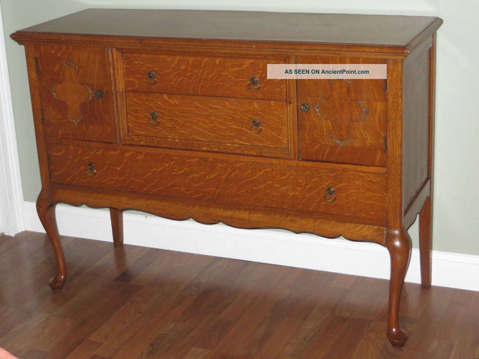 Antique Buffet Value Antique Tiger Oak Sideboard Buffet Server in Antique Sideboards (Image 1 of 15)