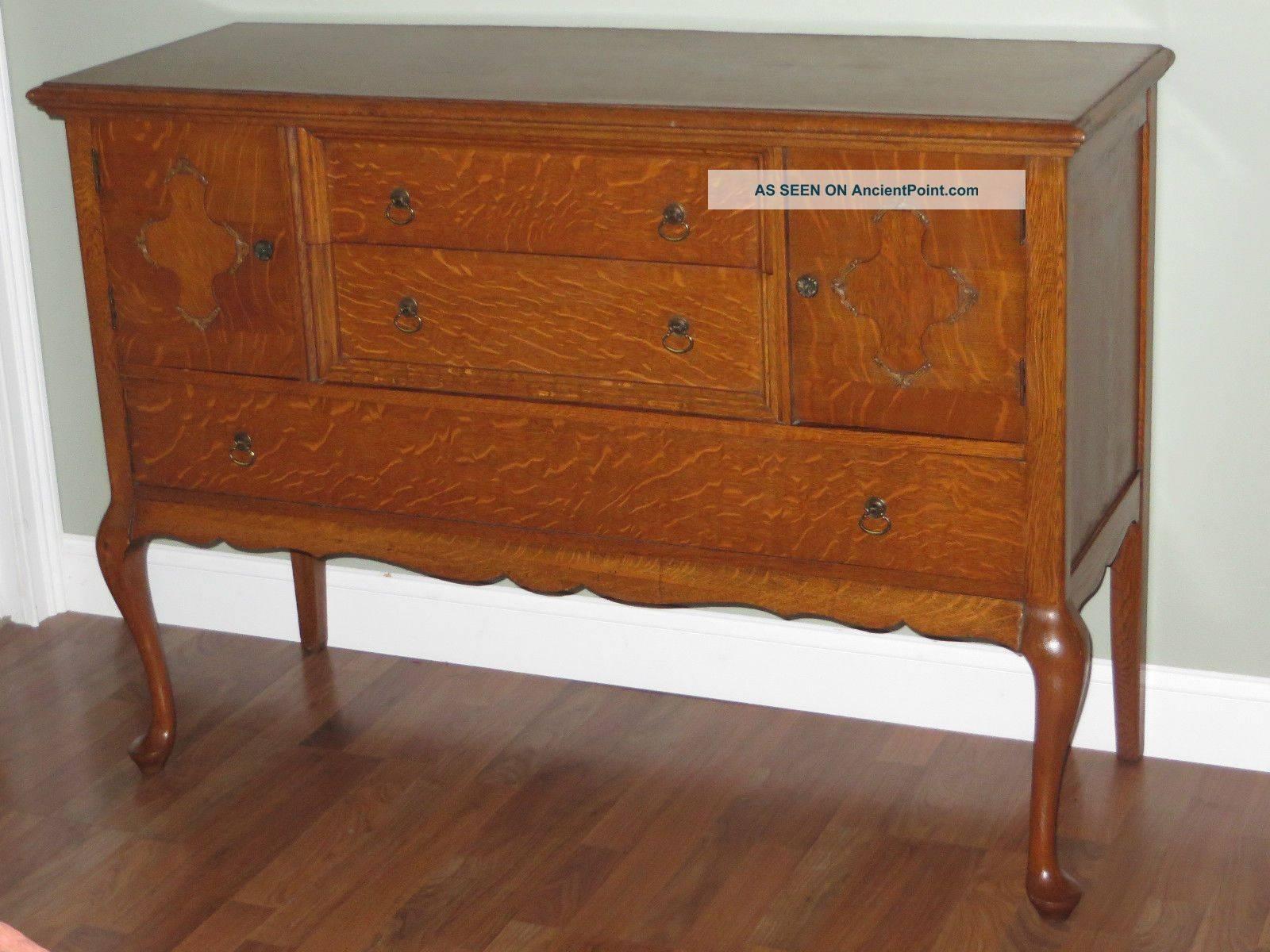 Antique Buffet Value Antique Tiger Oak Sideboard Buffet Server with regard to Antique Sideboard Buffets (Image 2 of 15)