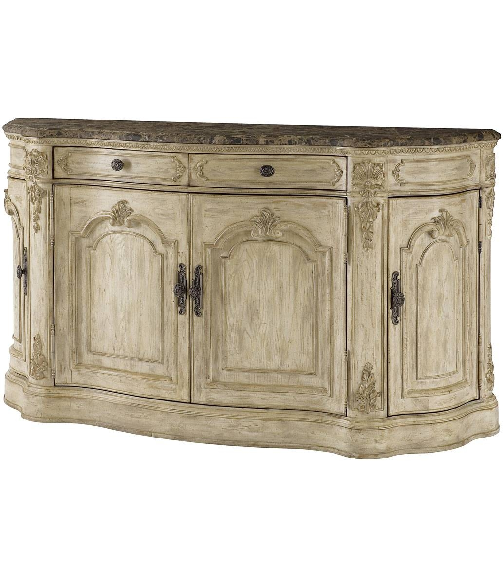 Antique French Country Dinette Decor With Adjustable Shelf Buffet For Sideboards With Marble Tops (View 15 of 15)