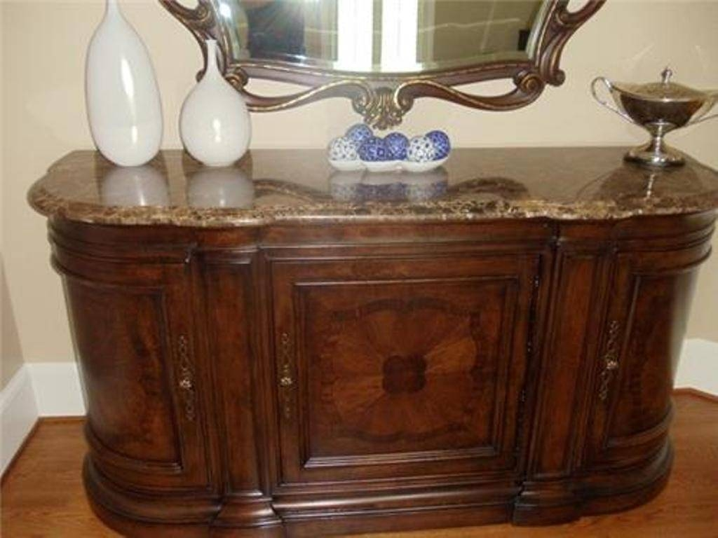 Antique Marble Top Sideboard And Hutch — New Decoration : Antique within Marble Top Sideboards (Image 3 of 15)