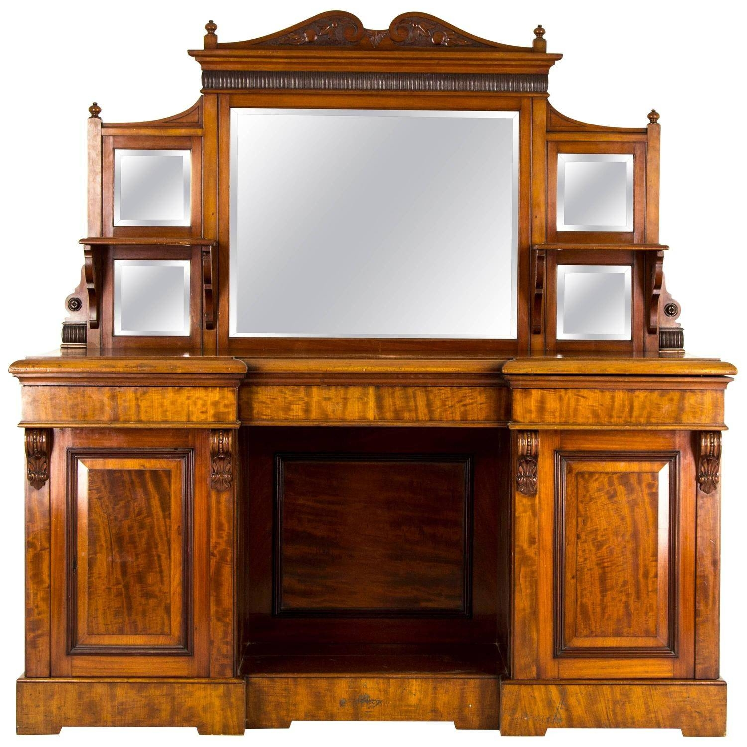 Antique Sideboard, Edwardian Mirror Back, Circa 1910 For Sale At throughout Antique Sideboards With Mirror (Image 2 of 15)