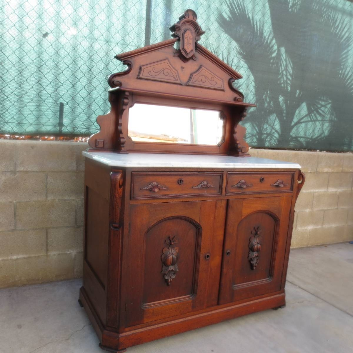 Antique Sideboards And Buffets — All Furniture : Antique in Antique Sideboards With Mirror (Image 3 of 15)