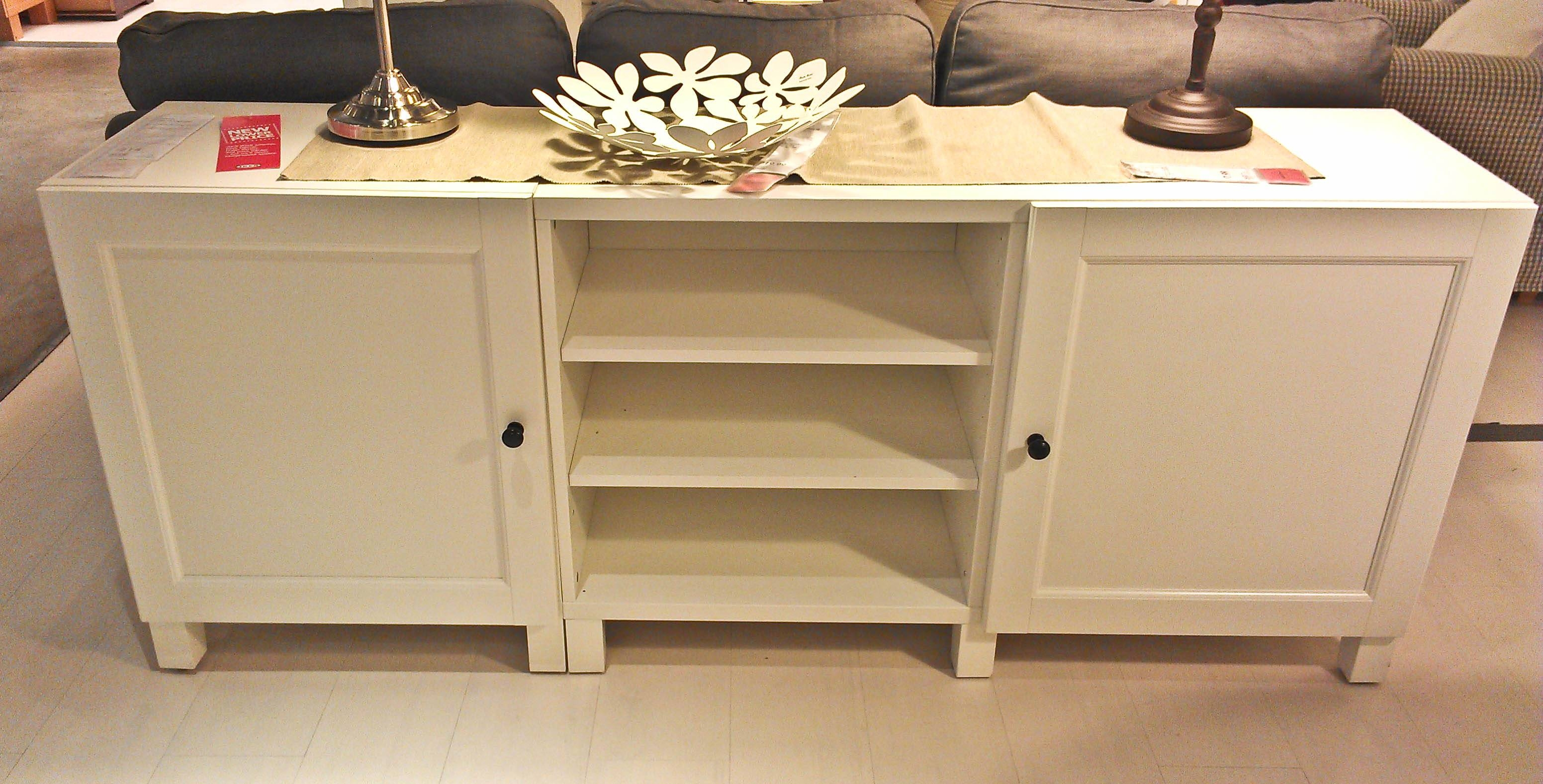 Antique White Buffet Table Dining Room Side Table Buffet White regarding Thin White Sideboards (Image 1 of 15)
