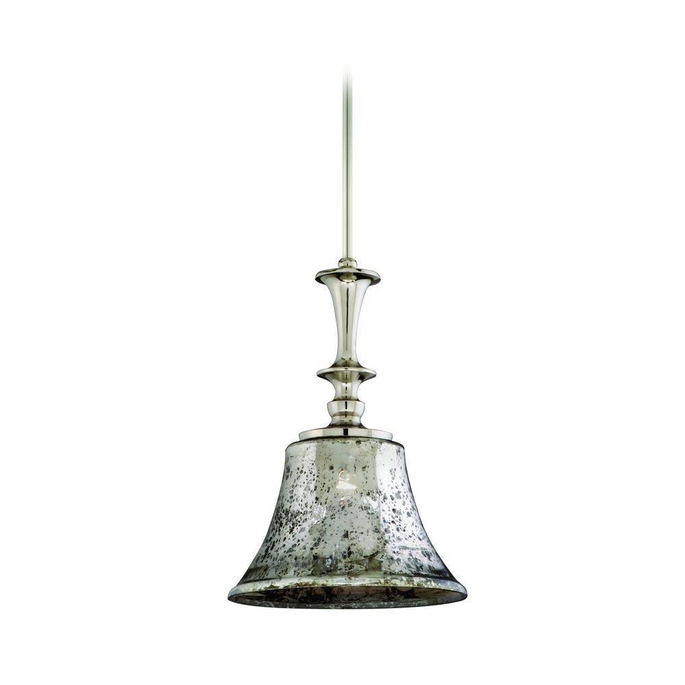 Aqua Glass Pendant Light Seeded Mercury Fixture Globes Clear for Mercury Glass Pendant Light Fixtures (Image 1 of 15)