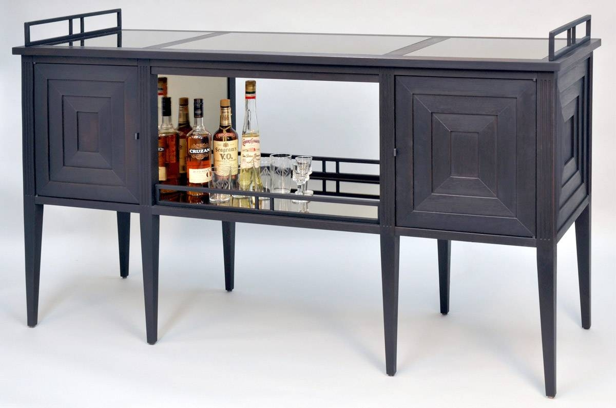Art Deco Bar Cabinet | Dorset Custom Furniture | Dan Mosheim | Vermont regarding Sideboard Bar Cabinet (Image 1 of 15)