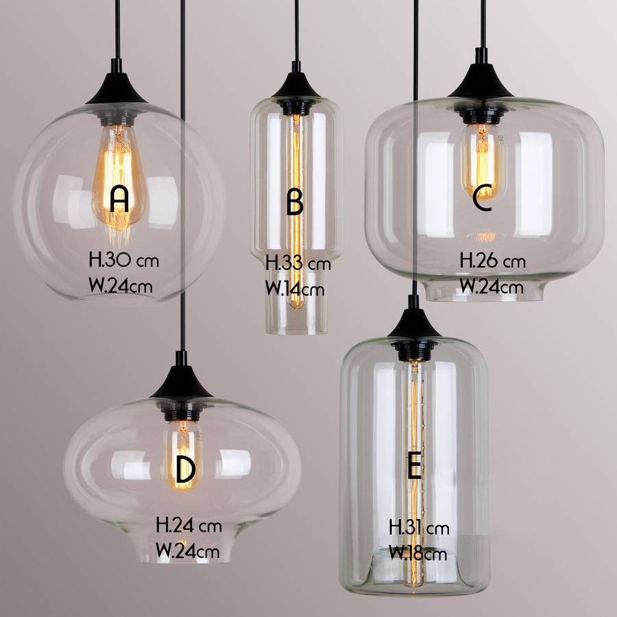 Art Deco Glass Pendant Lightunique's Co. | Notonthehighstreet in Industrial Glass Pendant Lights (Image 1 of 15)