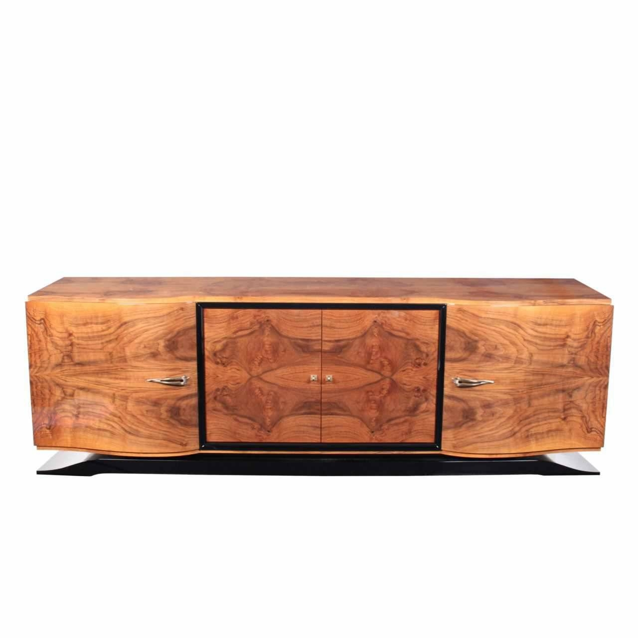 Art Deco Sideboard / Rosewood / Glossy Lacquered Wood - Sb001 intended for Art Deco Sideboards (Image 3 of 15)