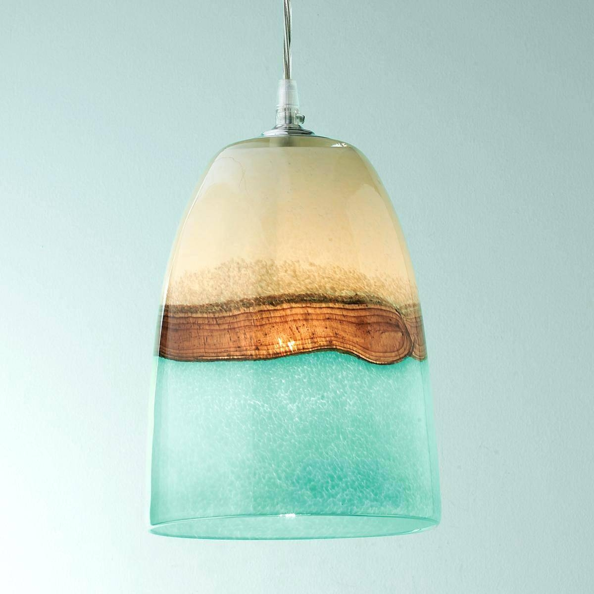 Articles With Blue Sea Glass Pendant Lighting Tag: Sea Glass Regarding Sea Glass Pendant Lights (View 2 of 15)