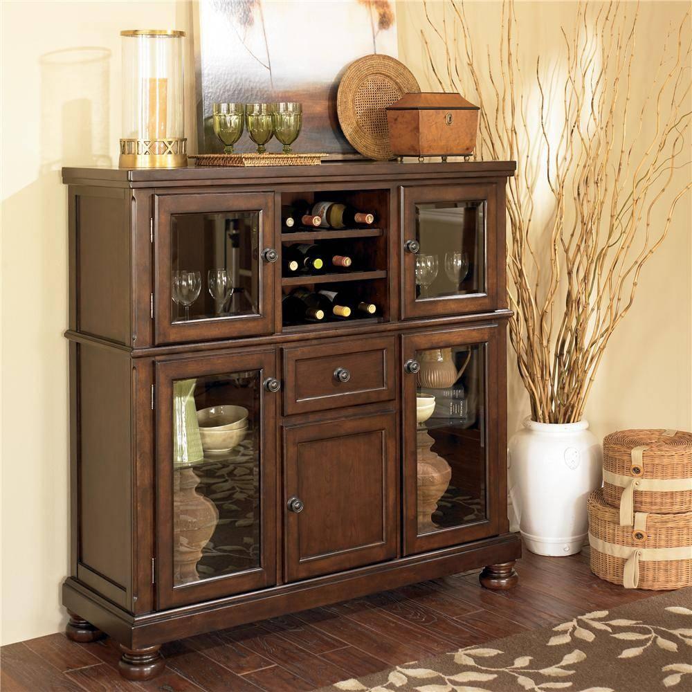 Ashley Furniture Porter Server With Storage Cabinet | Wayside Regarding Server Sideboard Furniture (View 11 of 15)