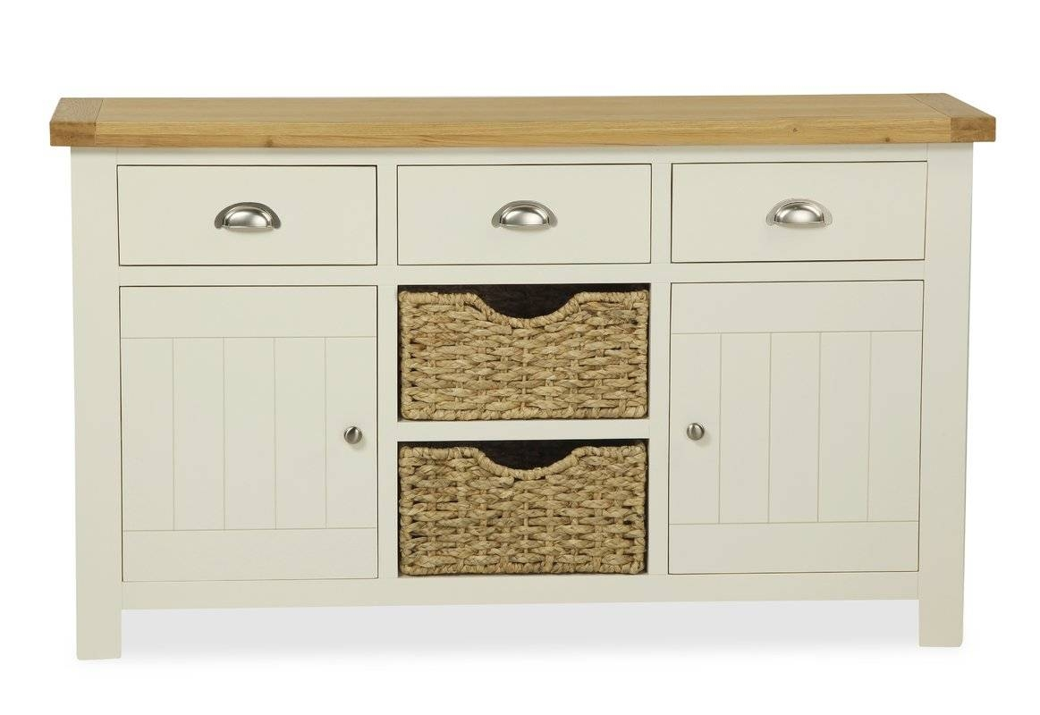 August Grove Lorrain 2 Door 3 Drawer Sideboard & Reviews | Wayfair within 2 Door Sideboards (Image 1 of 15)