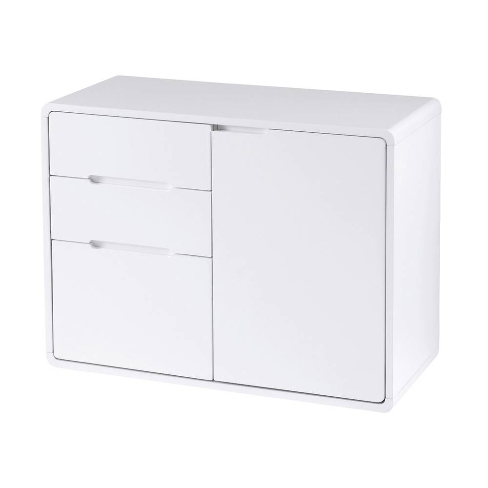 Basel Compact Sideboard White – Dwell In Slim White Sideboards (View 3 of 15)