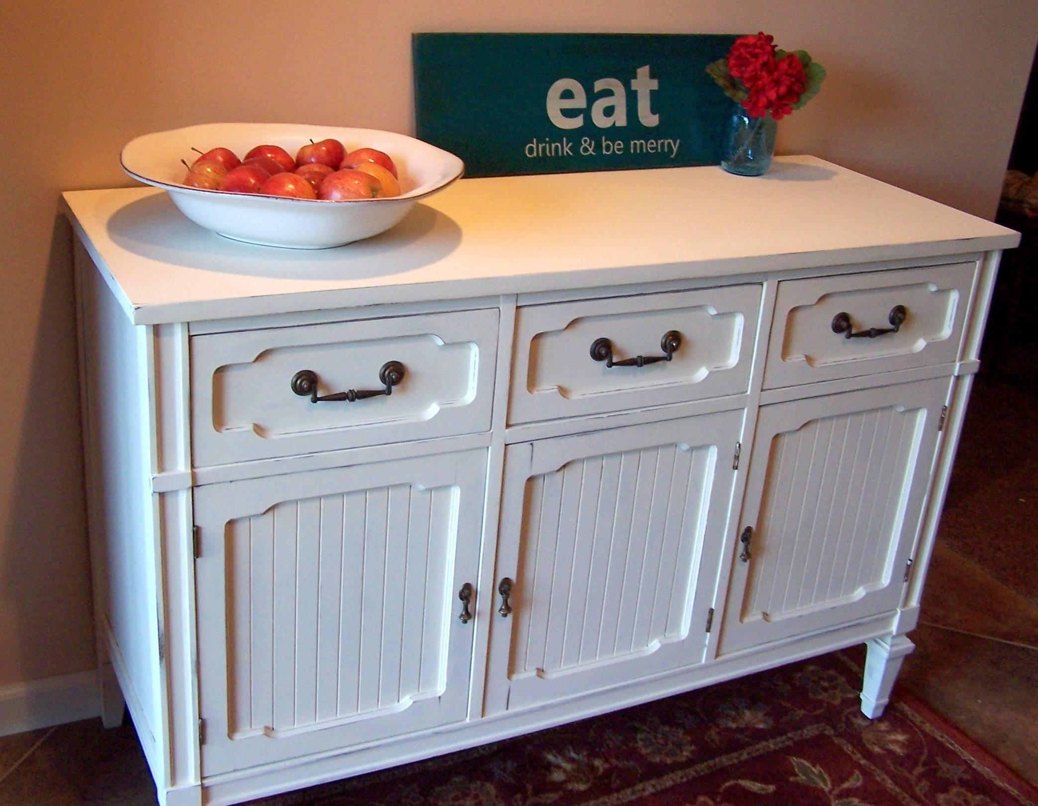 Beautiful White Sideboard Buffet – Bjdgjy Inside Kitchen Sideboards Buffets (View 6 of 15)