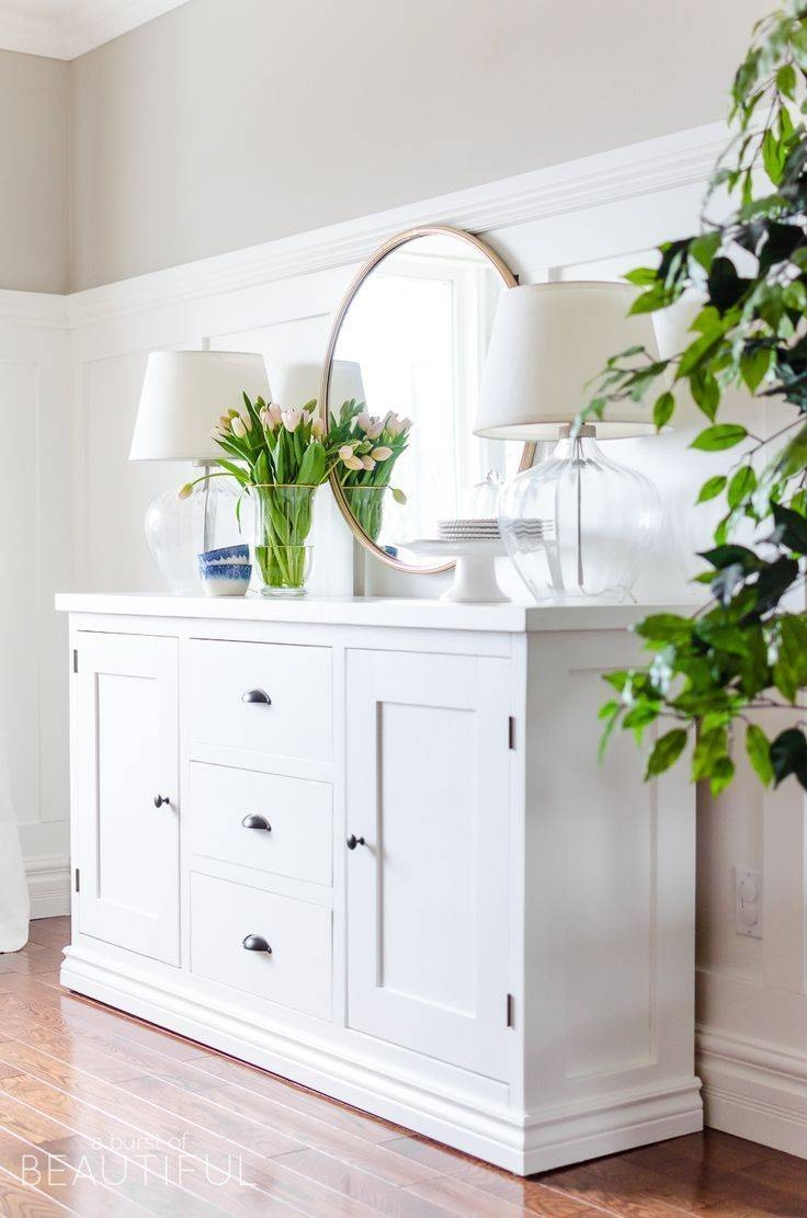 Best 25+ White Buffet Ideas On Pinterest | Dining Room Buffet Throughout White Buffet Sideboards (View 2 of 15)