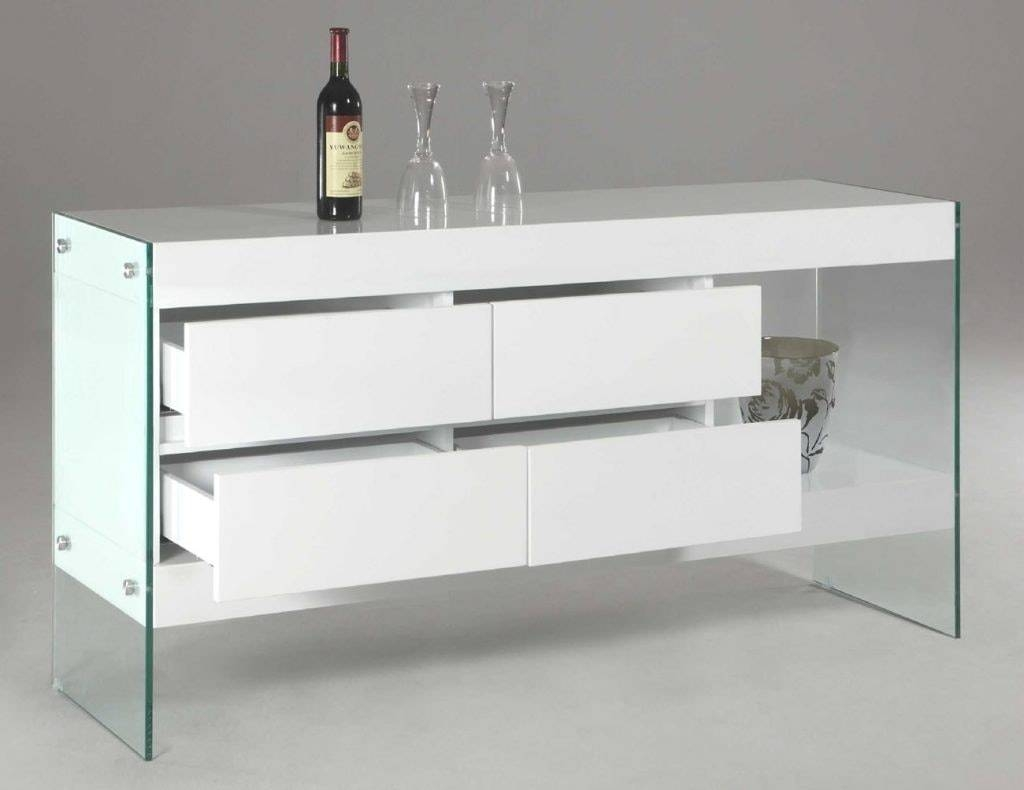Best Of White Sideboard Table Bjdgjy Image With Awesome Glass Intended For Glass Buffet Table Sideboards (View 9 of 15)