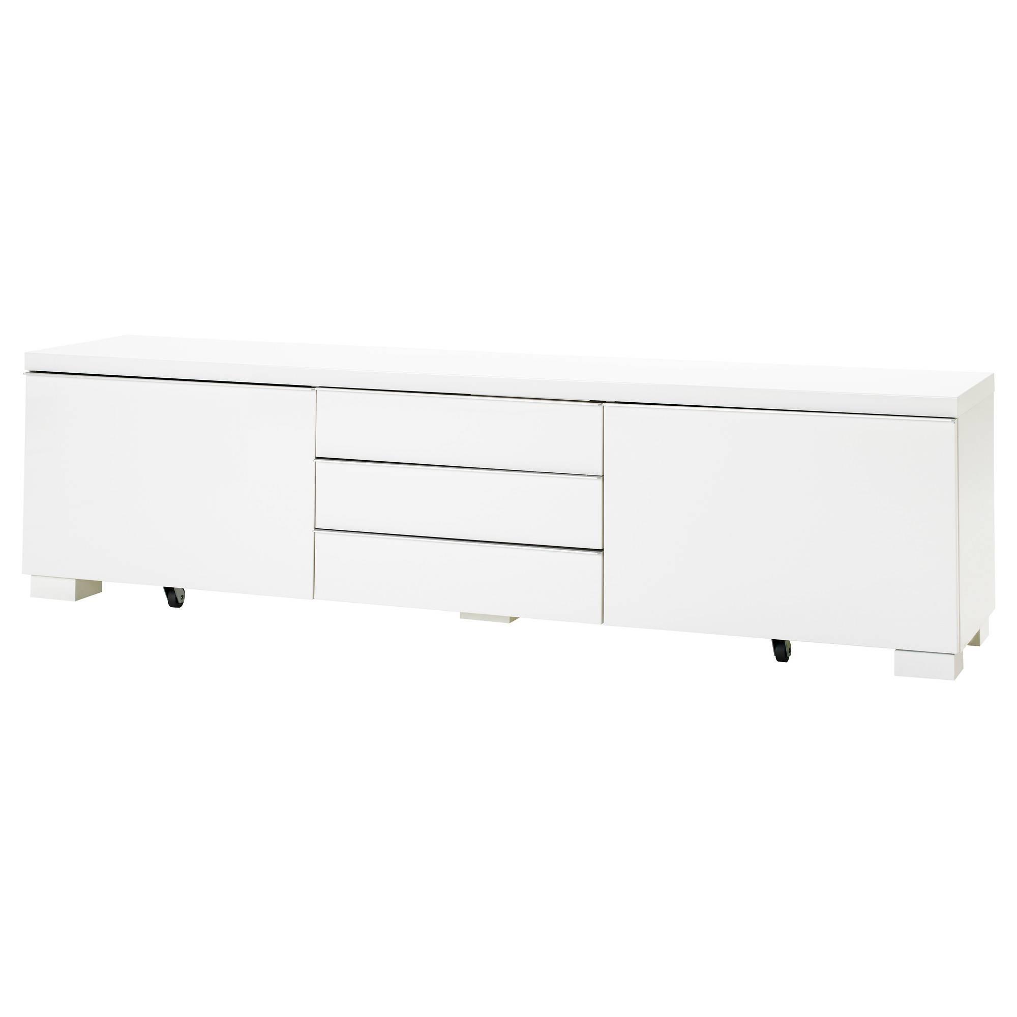 Bestå Burs Tv Bench High-Gloss White 180X41 Cm - Ikea for White Gloss Ikea Sideboards (Image 2 of 15)
