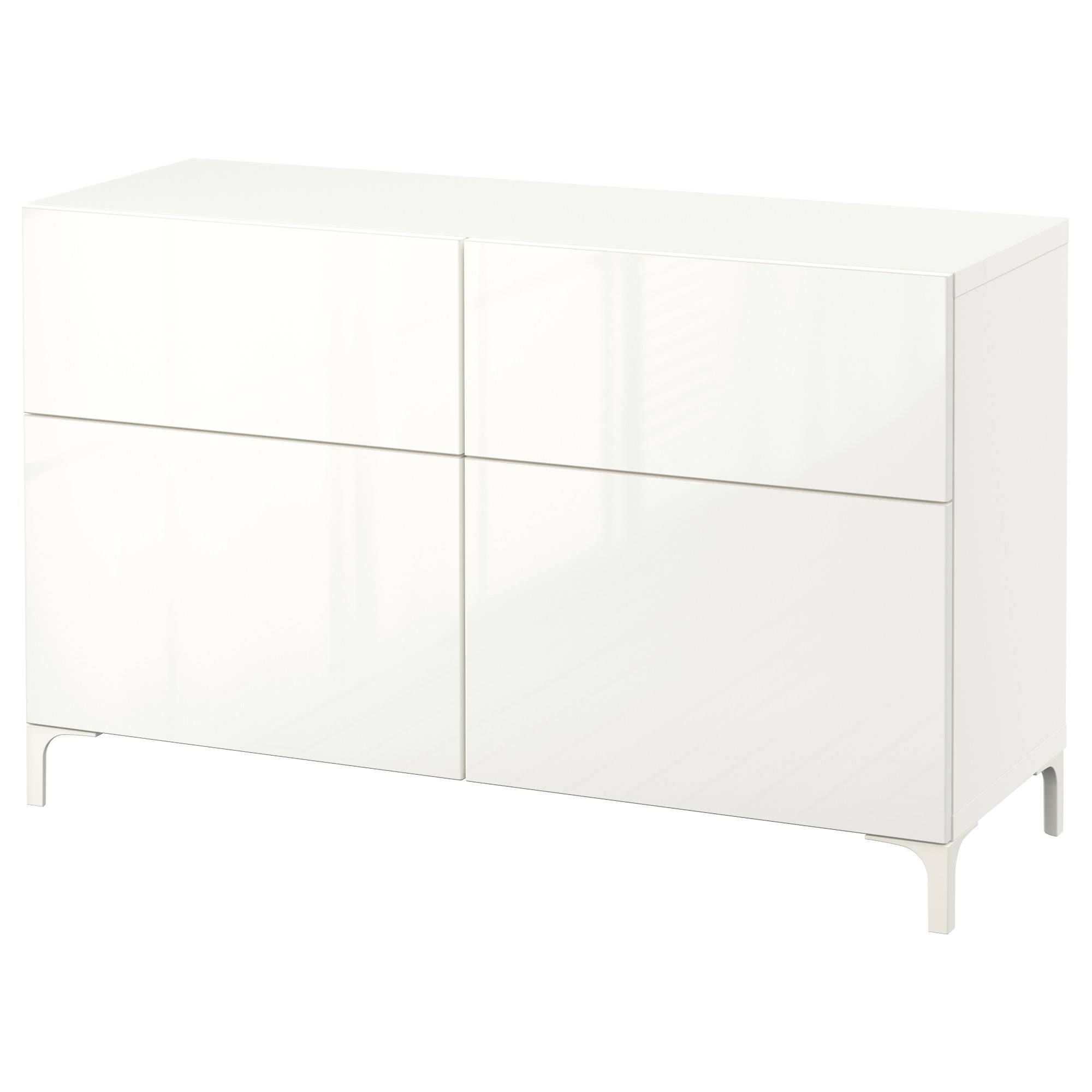 Bestå Storage Combination W Doors/drawers - White/selsviken High intended for White Gloss Ikea Sideboards (Image 3 of 15)