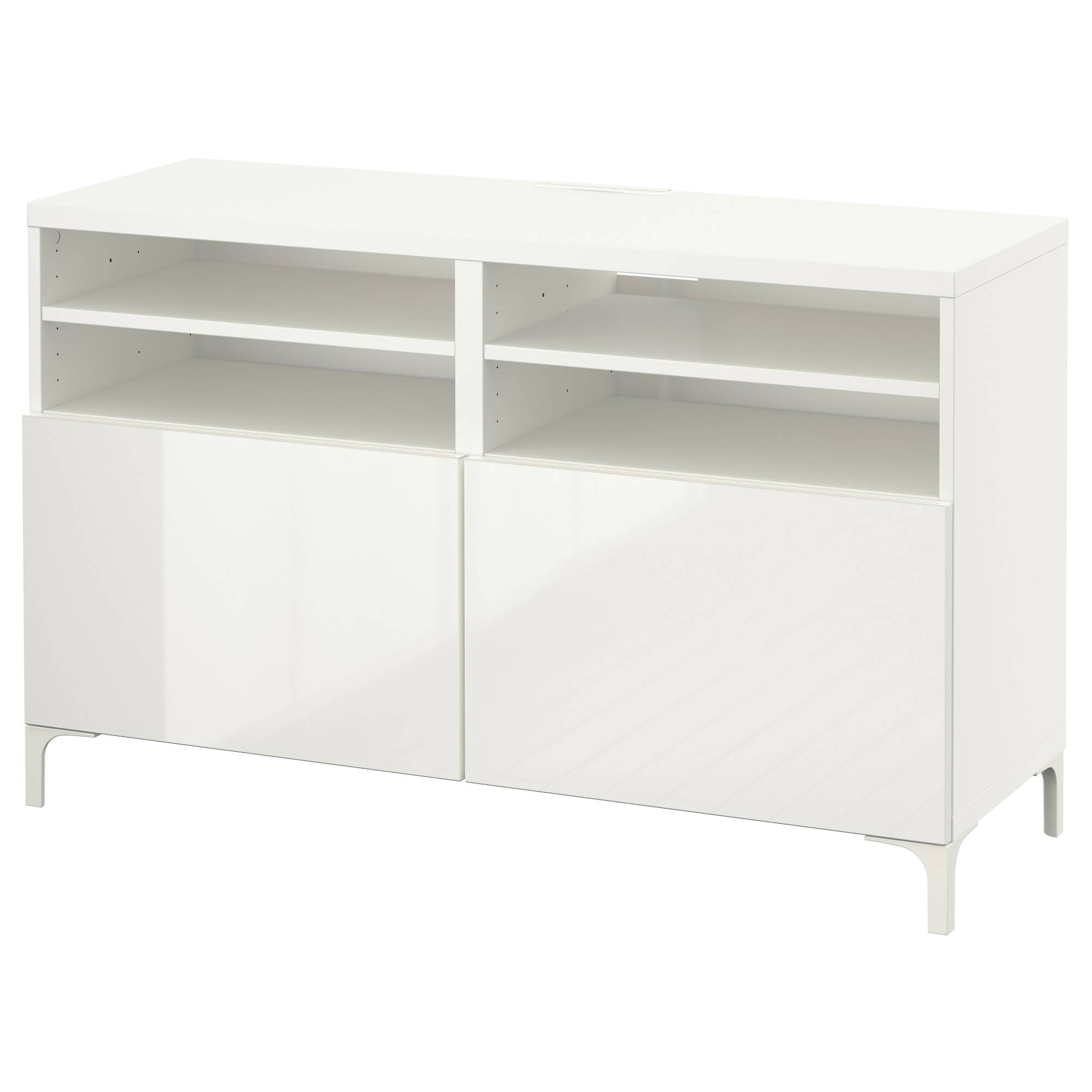 Bestå Tv Unit With Doors - White/selsviken High-Gloss/white - Ikea inside White Gloss Ikea Sideboards (Image 7 of 15)