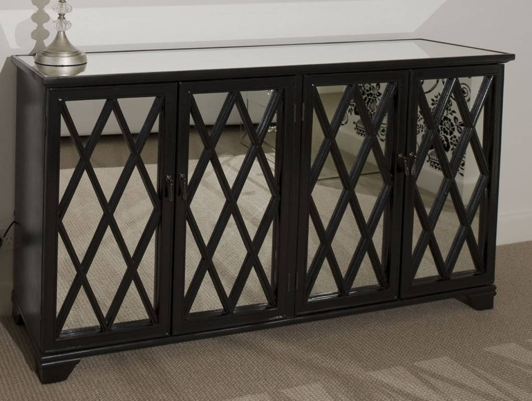 Black Antique Sideboard With Mirror — New Decoration : Antique Pertaining To Mirror Sideboards (View 5 of 15)