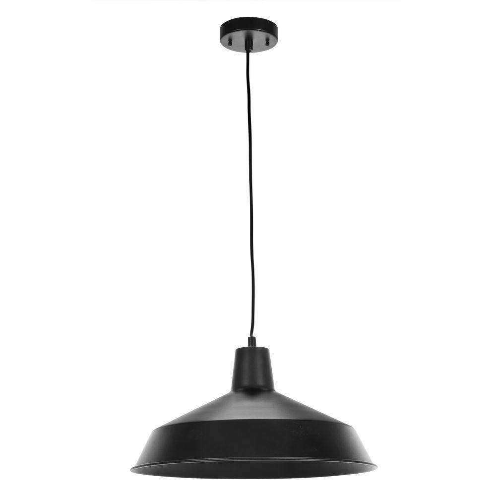 Black – Mini – Pendant Lights – Lighting – The Home Depot Throughout Black Mini Pendant Lights (View 10 of 15)