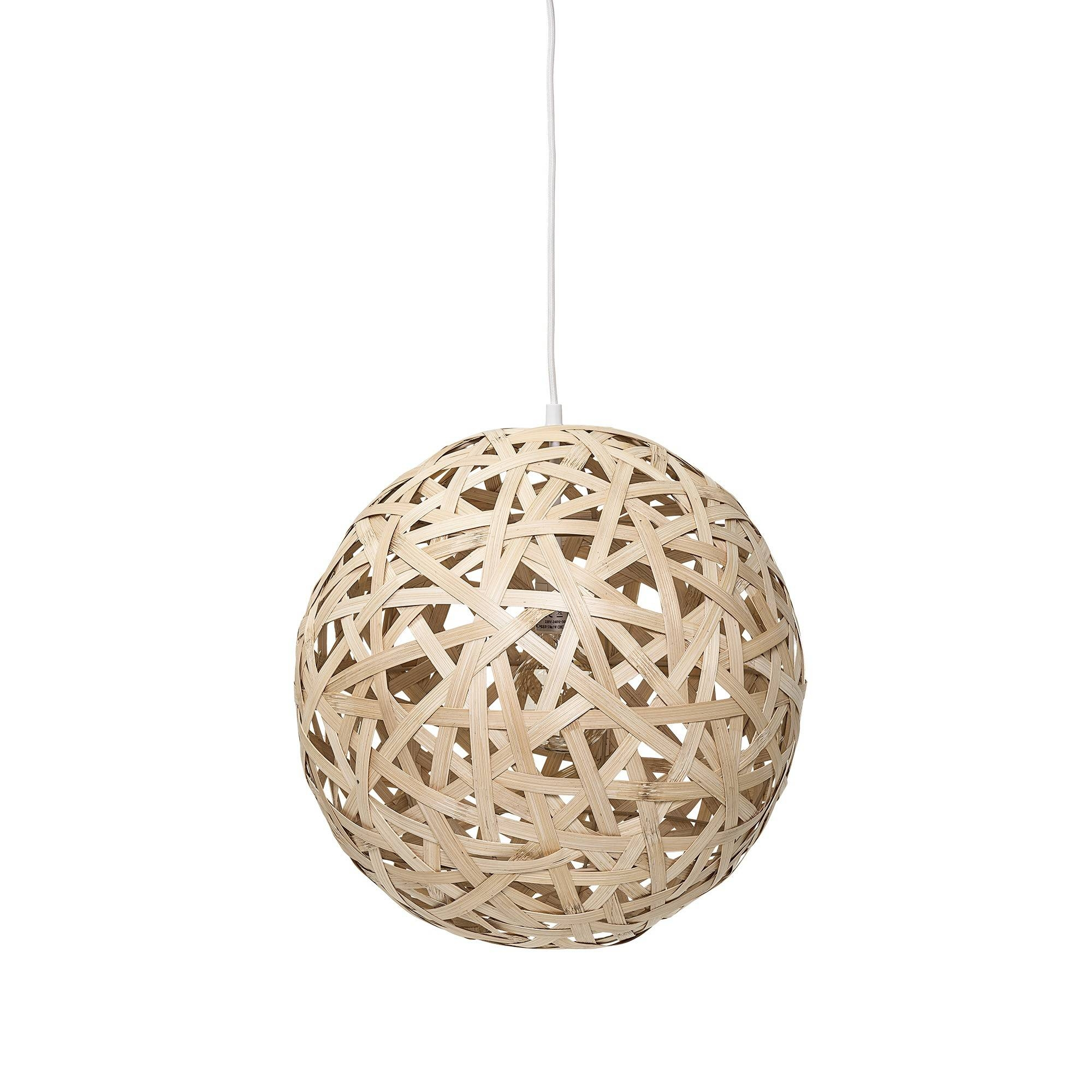 Bloomingville Pendant Lamp, Natural In Bamboo Pertaining To Natural Pendant Lights (View 3 of 15)