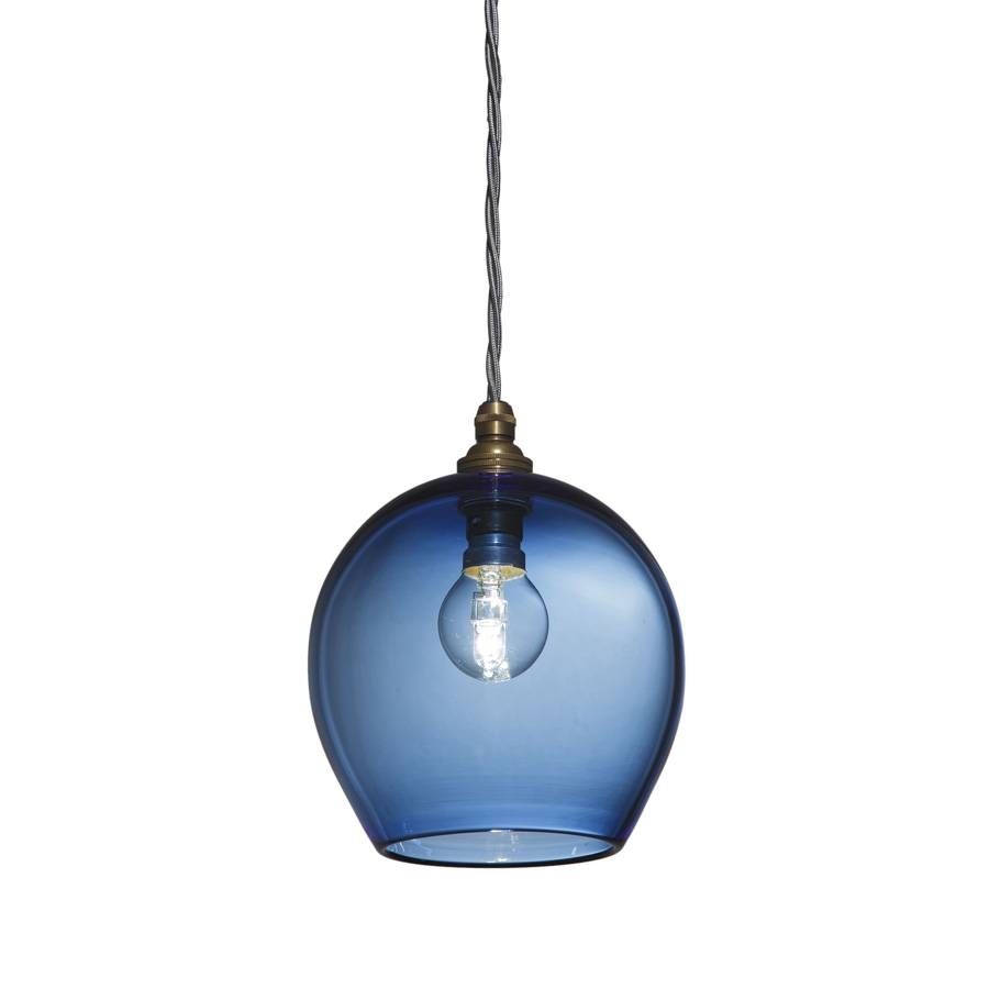 Blue Glass Pendant Light | Australia | Pixie Pendant Lights regarding Blue Pendant Lights (Image 3 of 15)