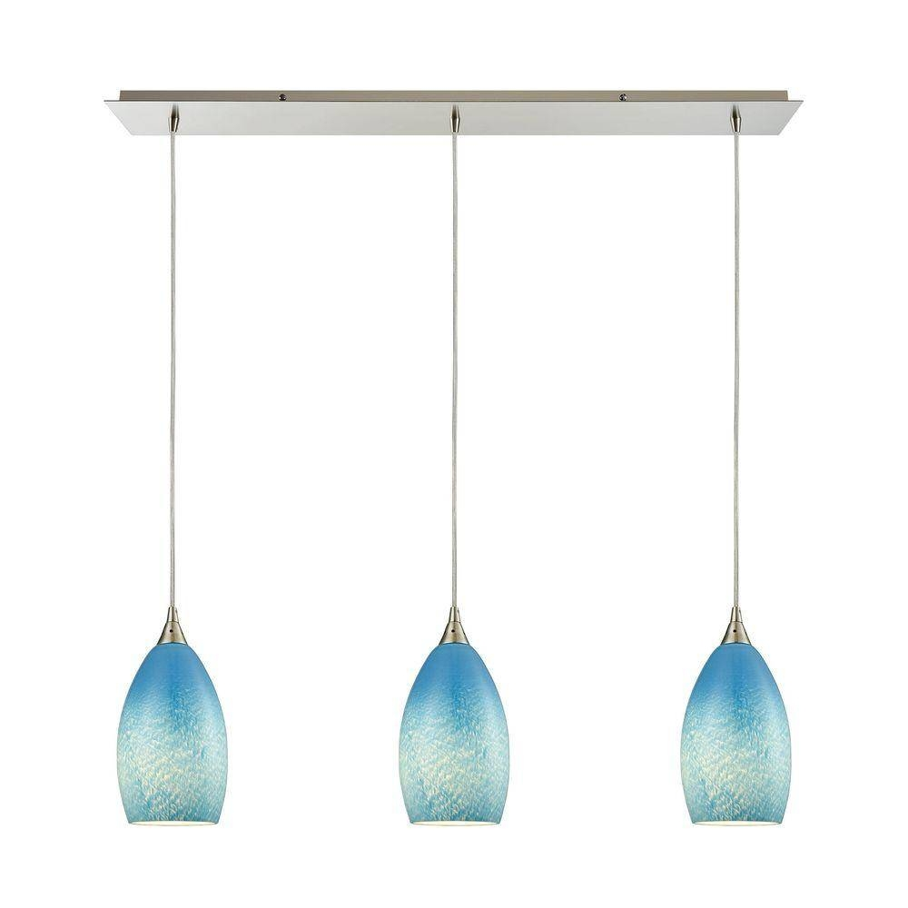 Blue - Mini - Pendant Lights - Lighting - The Home Depot with regard to Blue Pendant Lights (Image 1 of 15)