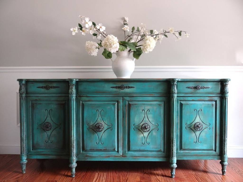 Blue Sideboard Buffet Table — New Decoration : Blue Sideboard With Blue Buffet Sideboards (View 2 of 15)
