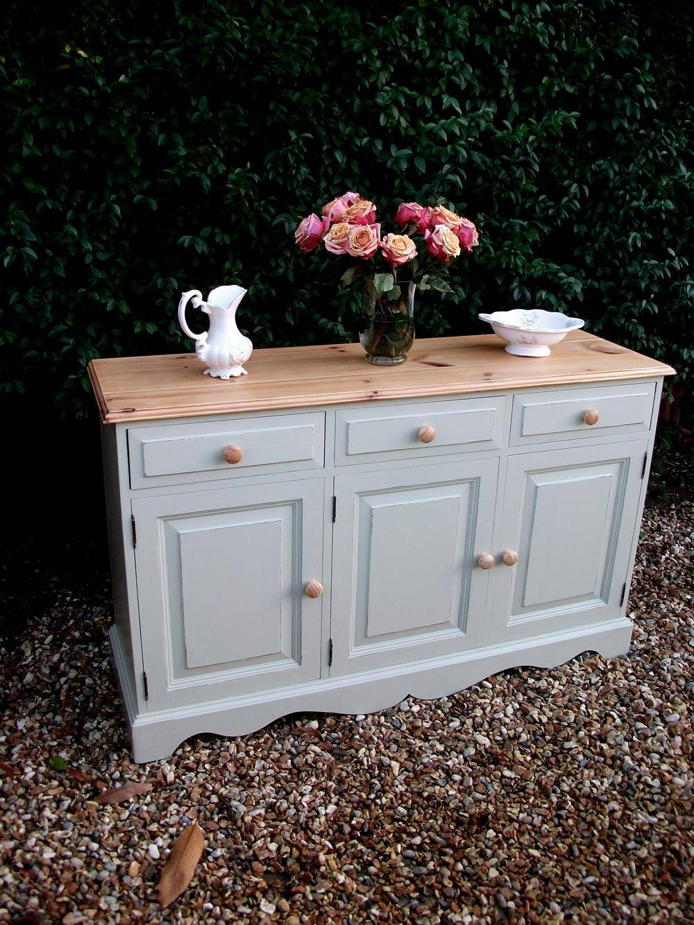 Blues And Hues – Bespoke Furniture Painting Surrey With Shabby Chic Sideboards (View 3 of 15)