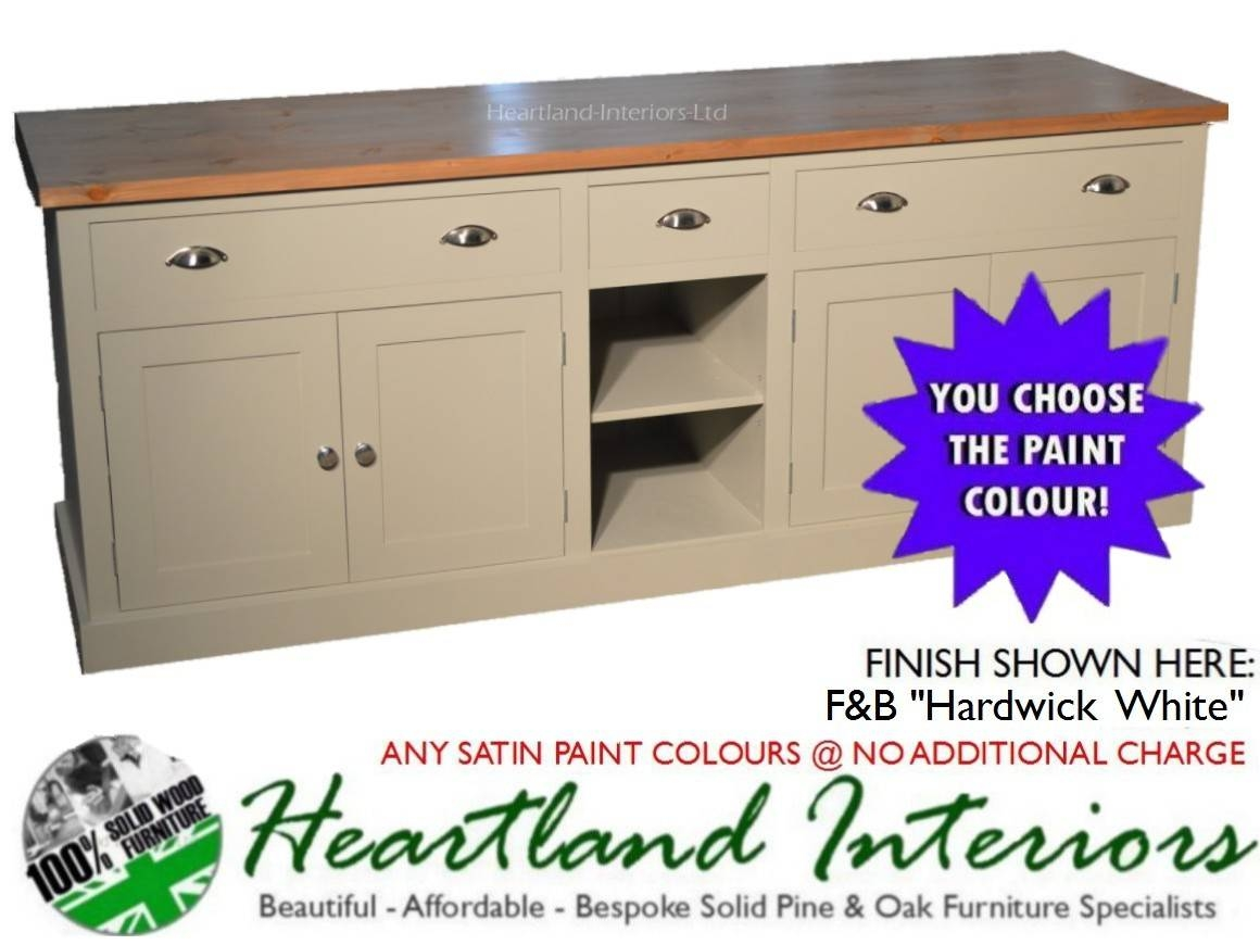 """Bordeaux F&b Painted 7ft Wide """"extra Deep"""" Sideboard With Drawers For Extra Deep Sideboards (View 7 of 15)"""