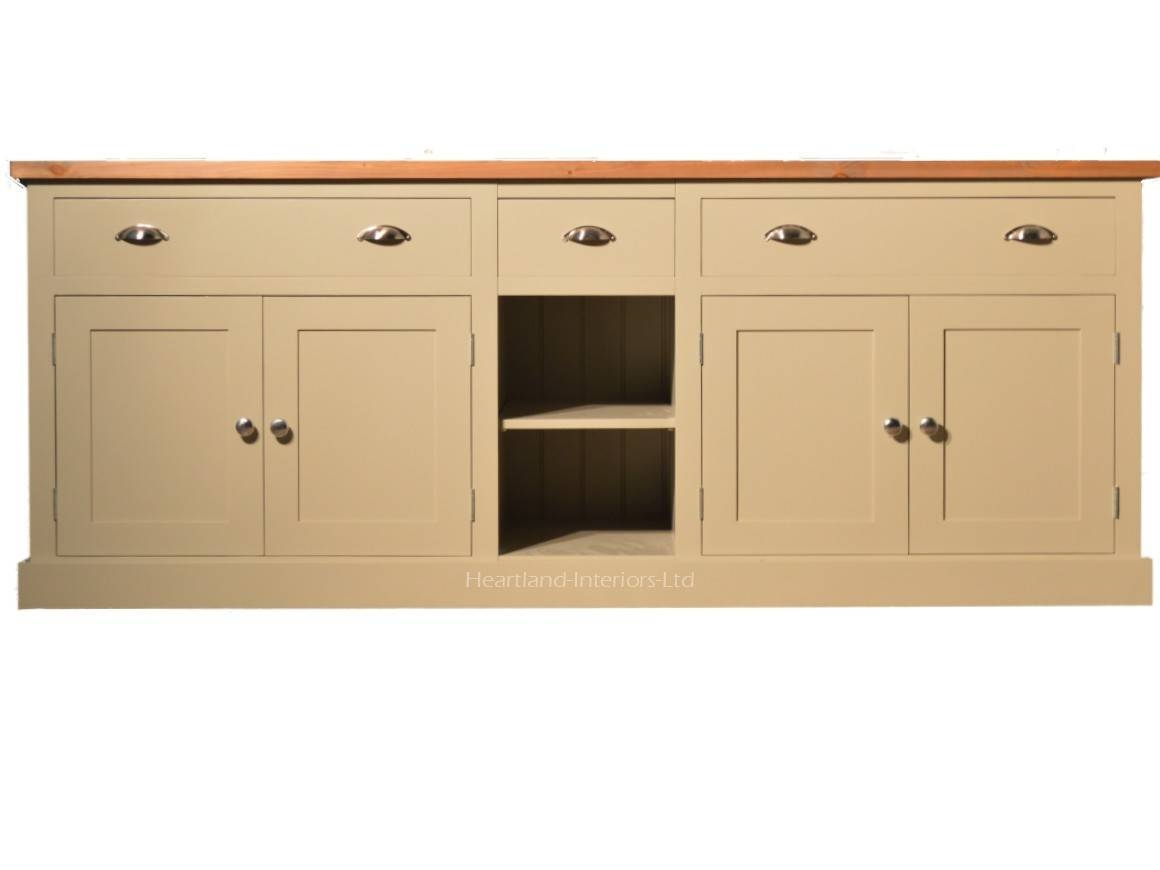 """Bordeaux F&b Painted 7ft Wide """"extra Deep"""" Sideboard With Drawers Pertaining To Extra Deep Sideboards (View 4 of 15)"""