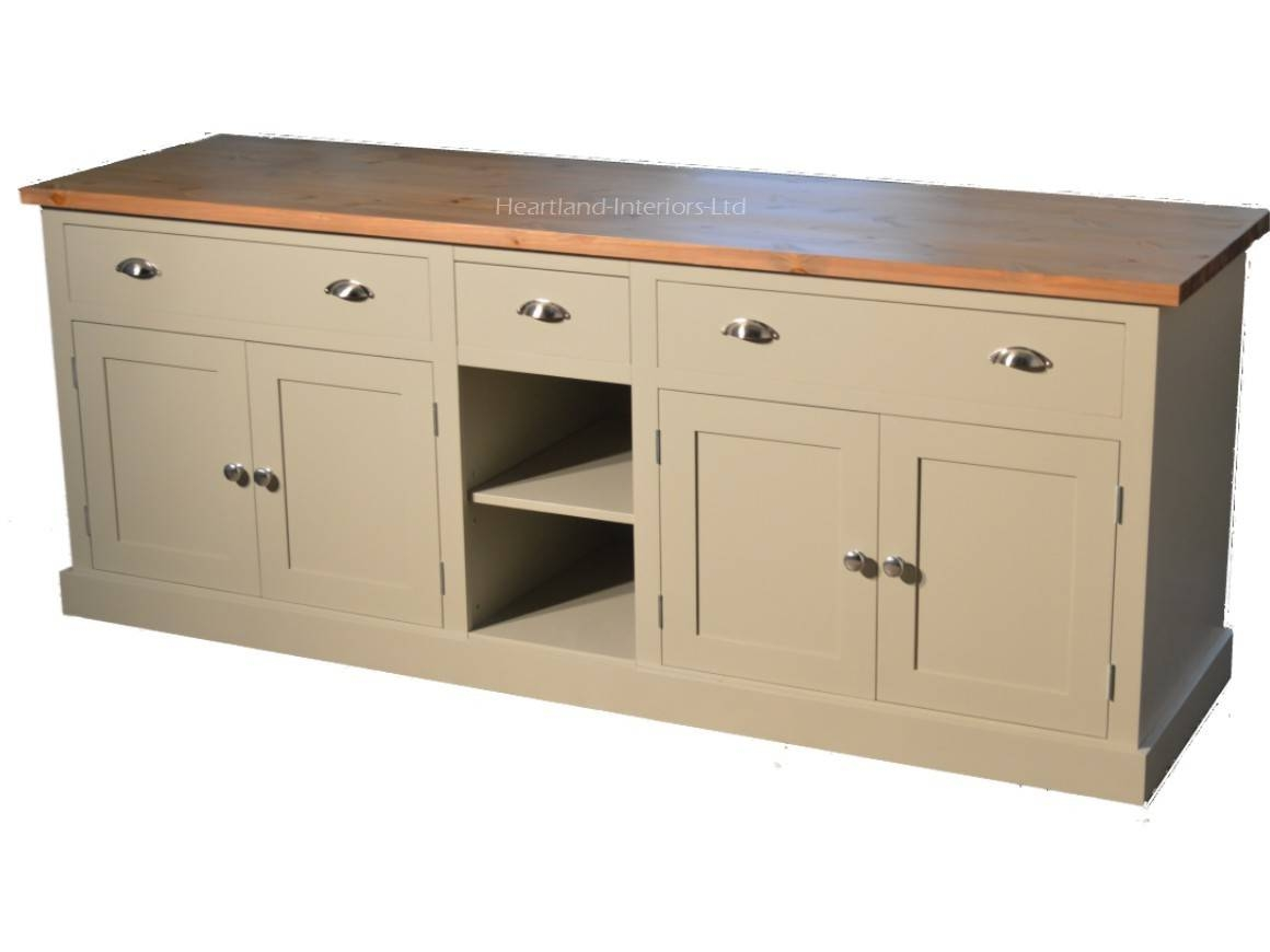 """Bordeaux F&b Painted 7ft Wide """"extra Deep"""" Sideboard With Drawers Throughout Extra Deep Sideboards (View 2 of 15)"""