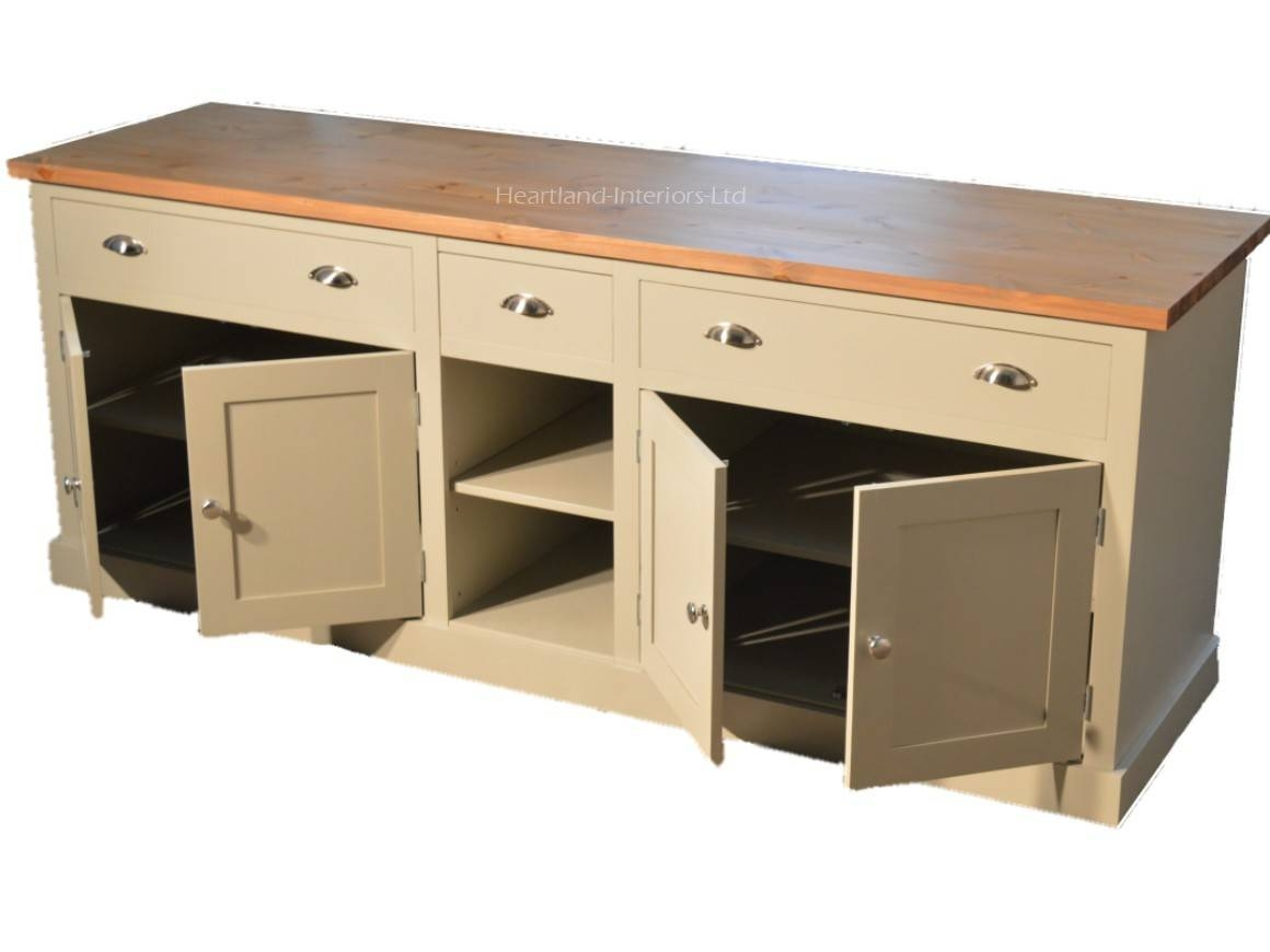 """Bordeaux F&b Painted 7ft Wide """"extra Deep"""" Sideboard With Drawers With Regard To Extra Deep Sideboards (View 9 of 15)"""