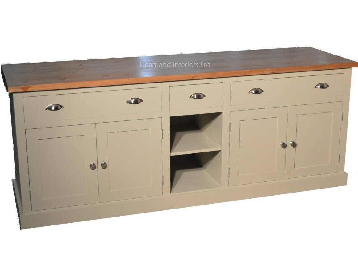 """Bordeaux F&b Painted 7ft Wide """"extra Deep"""" Sideboard With Drawers With Regard To Extra Deep Sideboards (View 3 of 15)"""