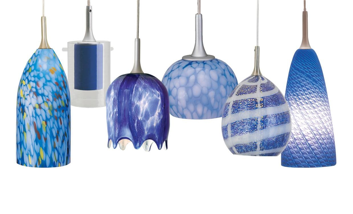 Brilliant Blue Glass Pendant Light With Interior Design Ideas Inside Blue Glass Pendant Lighting (View 14 of 15)