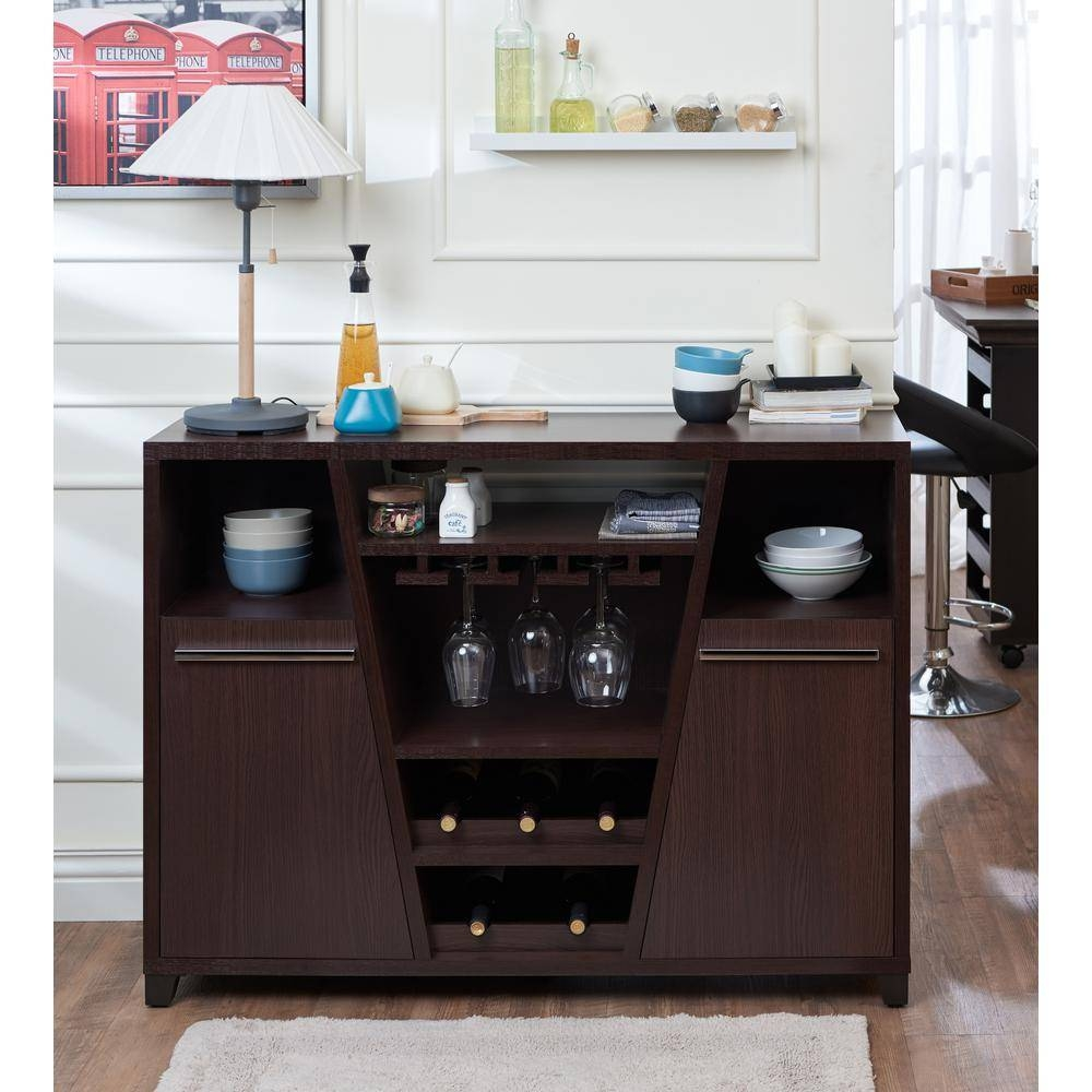 Brown - Sideboards & Buffets - Kitchen & Dining Room Furniture regarding Espresso Sideboards (Image 1 of 15)