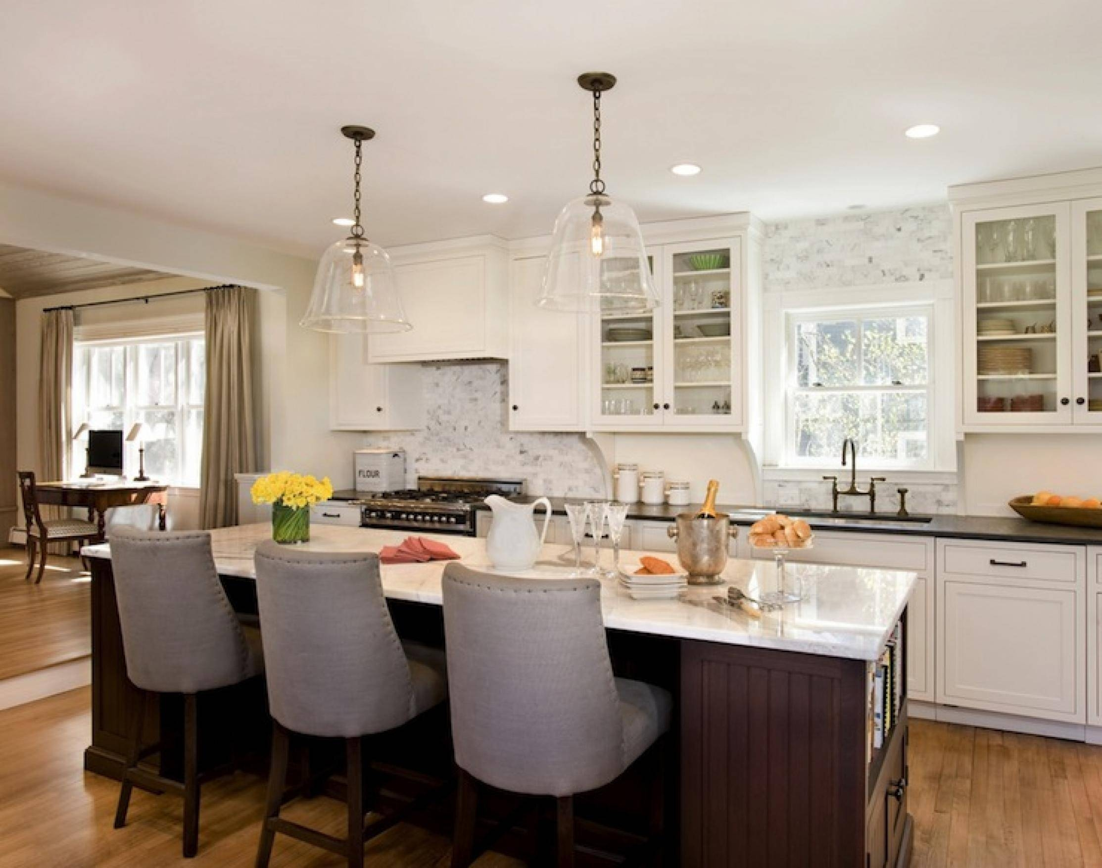 Brushed Nickel Island Light Pendant Kitchen Lights Over Fixtures with Island Pendant Lights (Image 4 of 15)