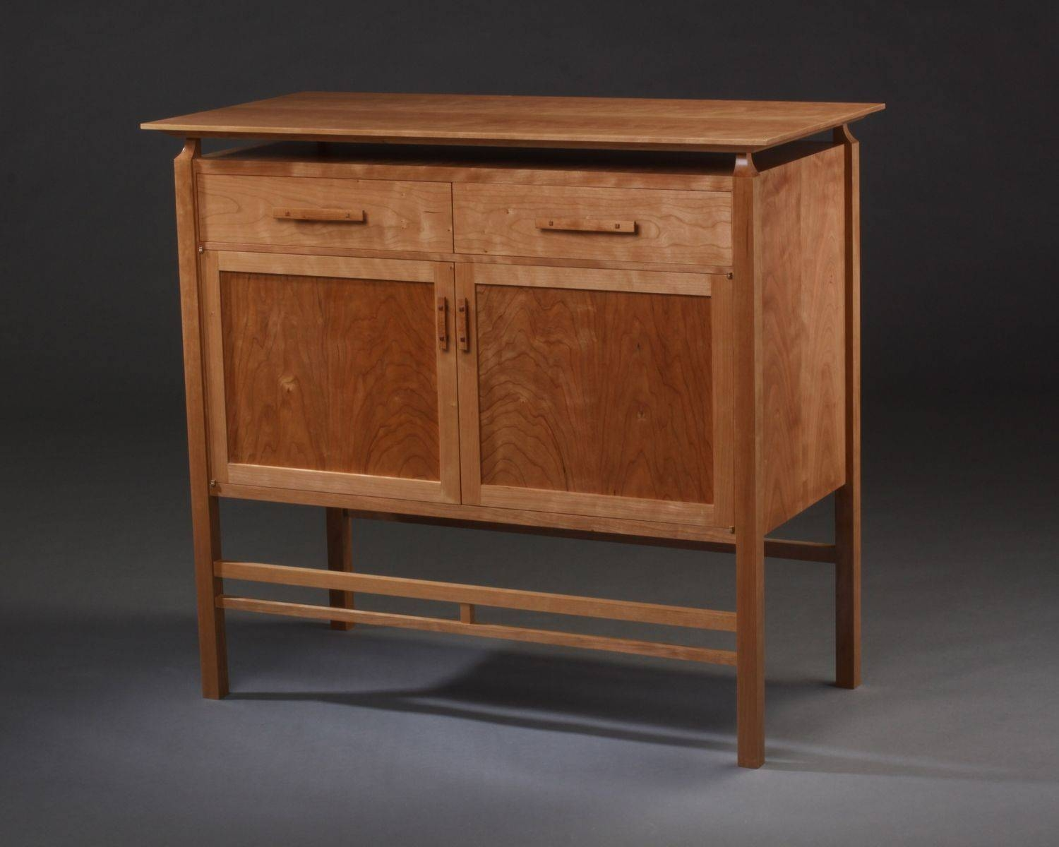 Buy A Custom Modern Mission Cherry Cabinet With Floating Top, Made In Mission Style Sideboards (View 10 of 15)