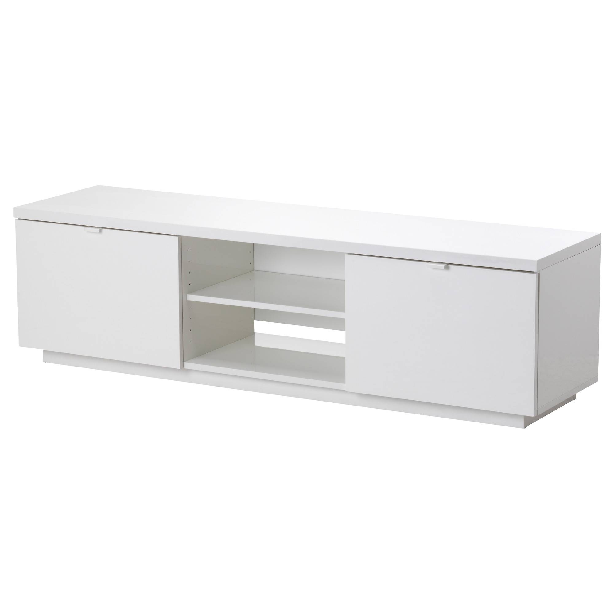 Byås Tv Bench High-Gloss White 160X42X45 Cm - Ikea for White Gloss Ikea Sideboards (Image 9 of 15)
