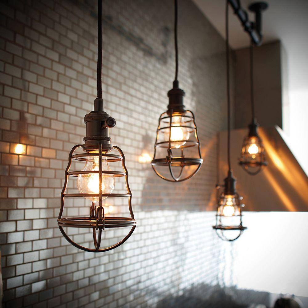 Cage Pendant Light — All About Home Design : Cage Pendant Light Ideas throughout Bronze Cage Pendant Lights (Image 5 of 15)