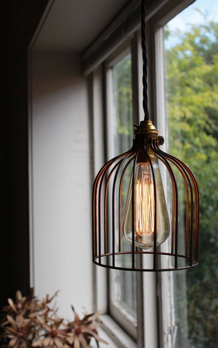 Cage Pendant Light And Globe Electric Jorah Oil Rubbed Bronze with regard to Bronze Cage Pendant Lights (Image 4 of 15)