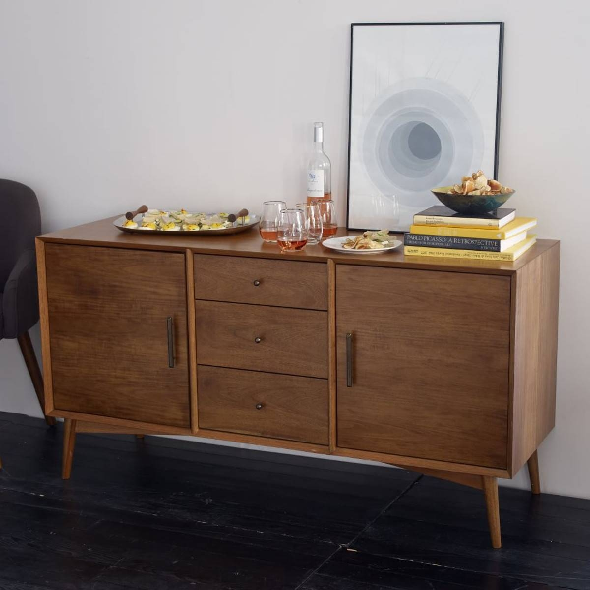 Can You Find Time With An Antique Mid Century Buffet Or Sideboard with Midcentury Sideboards (Image 1 of 15)