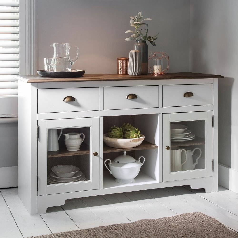Canterbury Sideboard In White And Dark Pine | Noa & Nani Inside Pine Sideboards (View 7 of 15)