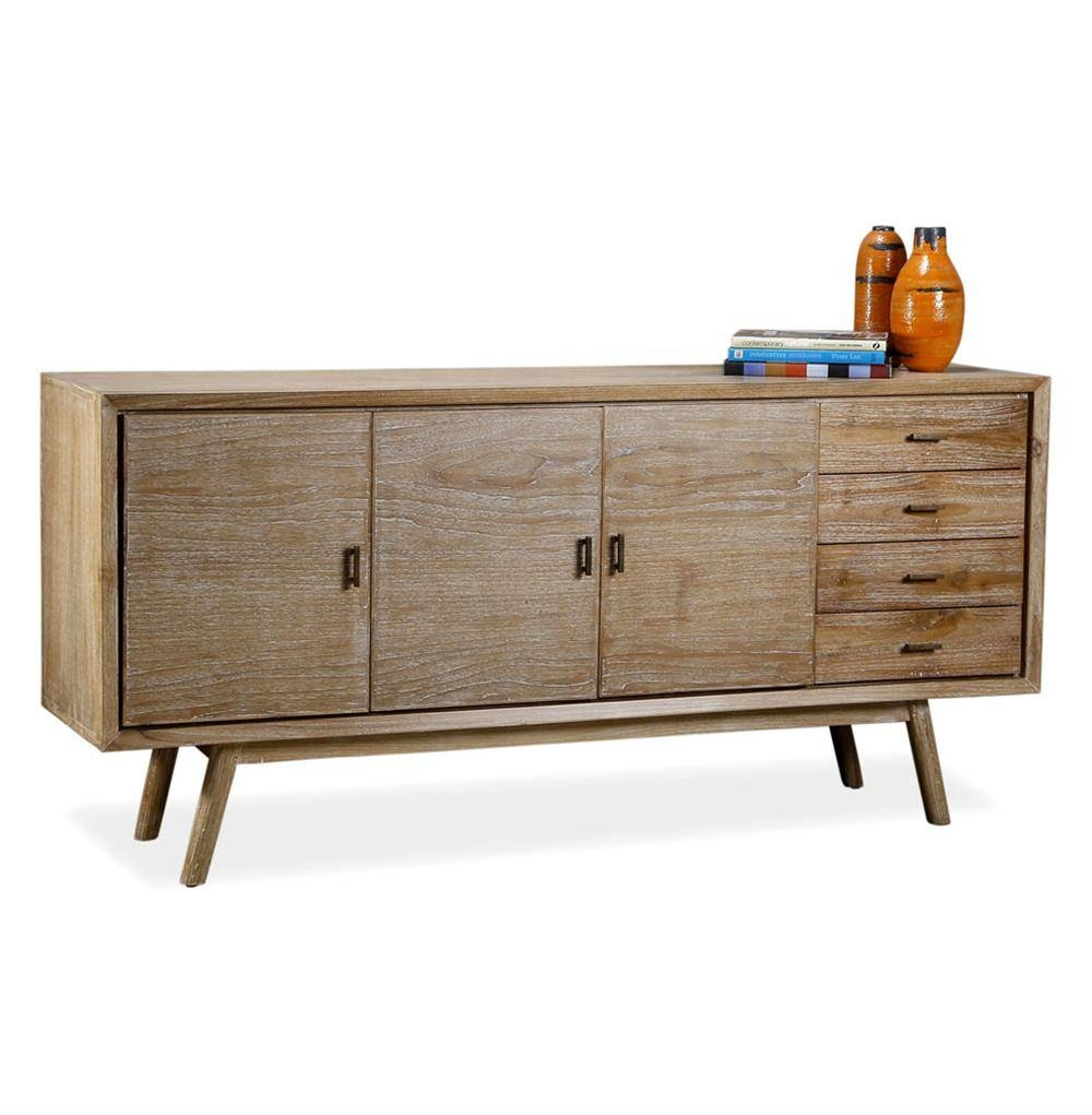 Cape Cod Whitewash Coastal Beach Modern Sideboard Media Console intended for Media Sideboards (Image 4 of 15)