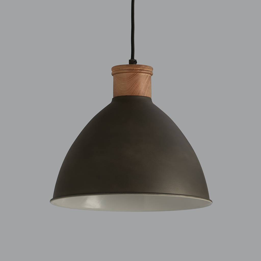 Cement Grey And Wood Pendant Lighthorsfall & Wright In Wooden Pendant Lighting (View 5 of 15)