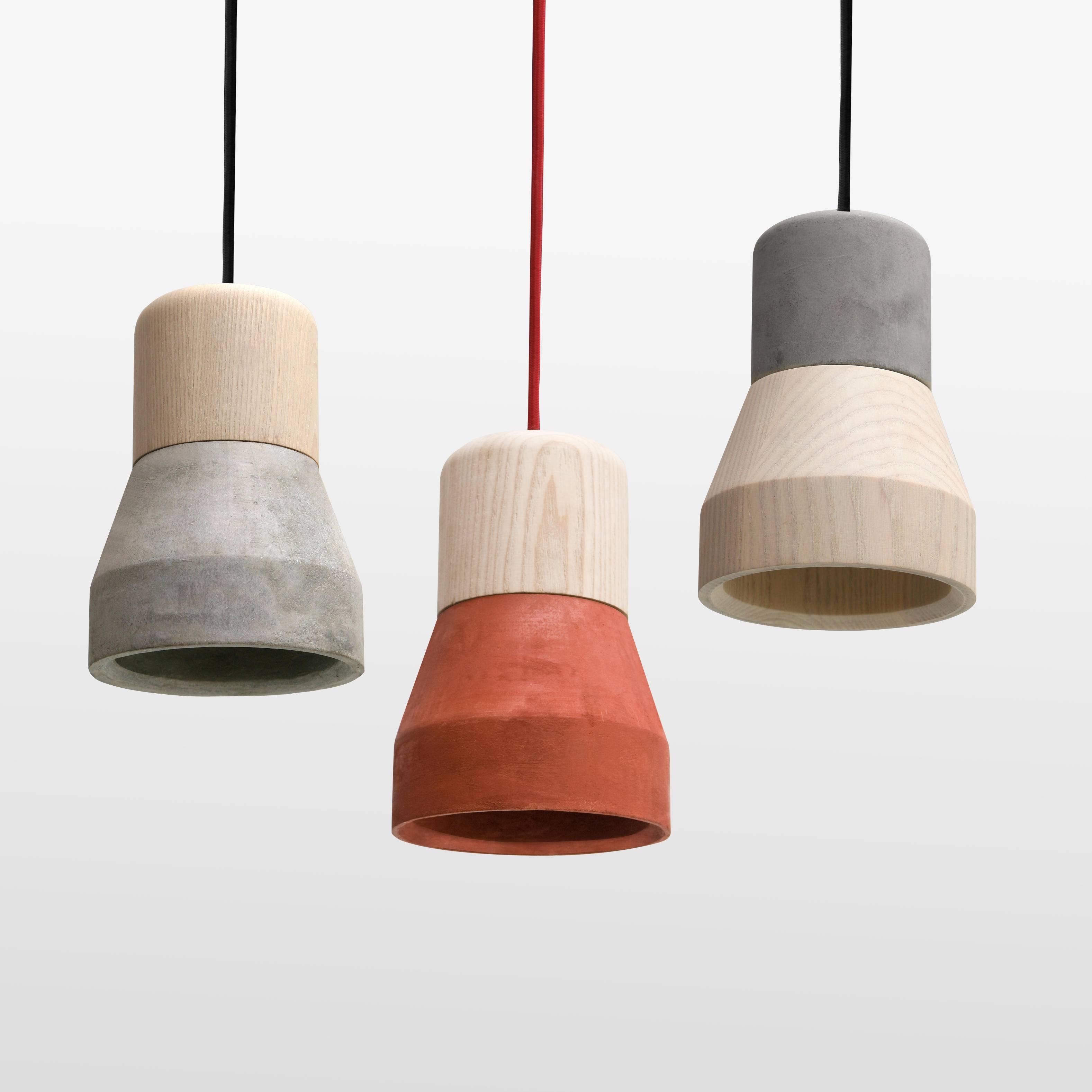 Cement Wood Pendant Light | Specimen | Ahalife In Wooden Pendant Lighting (View 3 of 15)
