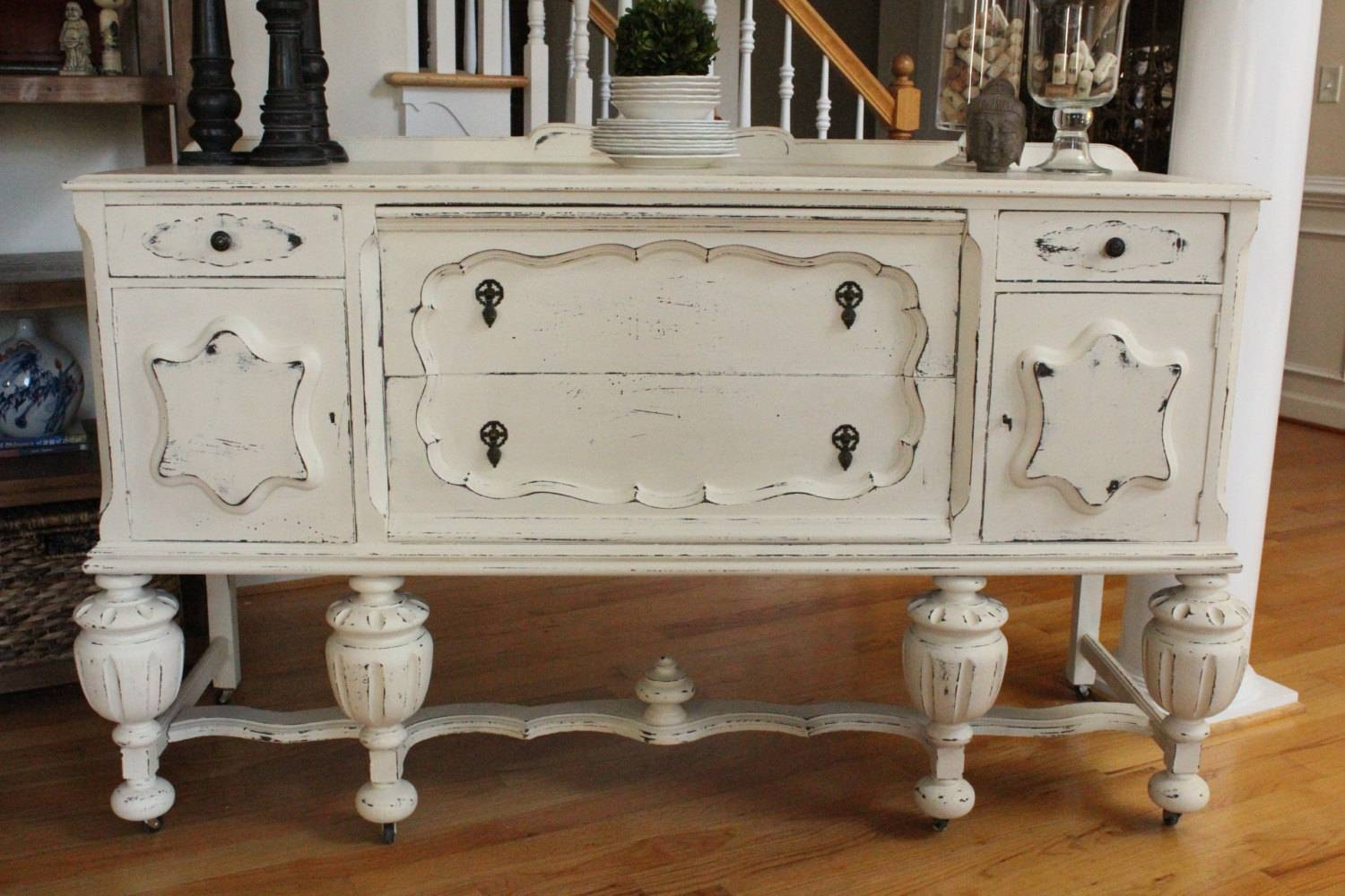 Chalk Paint Buffet Dining Table — Jessica Color : Chalk Paint within Chalk Painted Sideboards (Image 4 of 15)