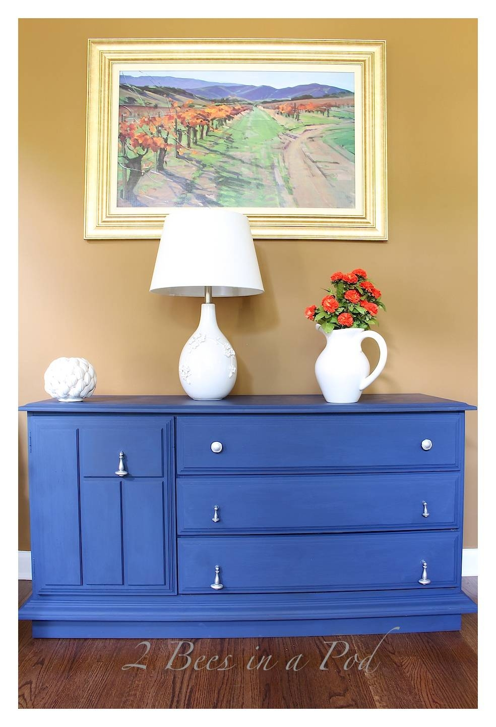 Chalk Painted Buffet Makeover – 2 Bees In A Pod For Annie Sloan Painted Sideboards (View 13 of 15)
