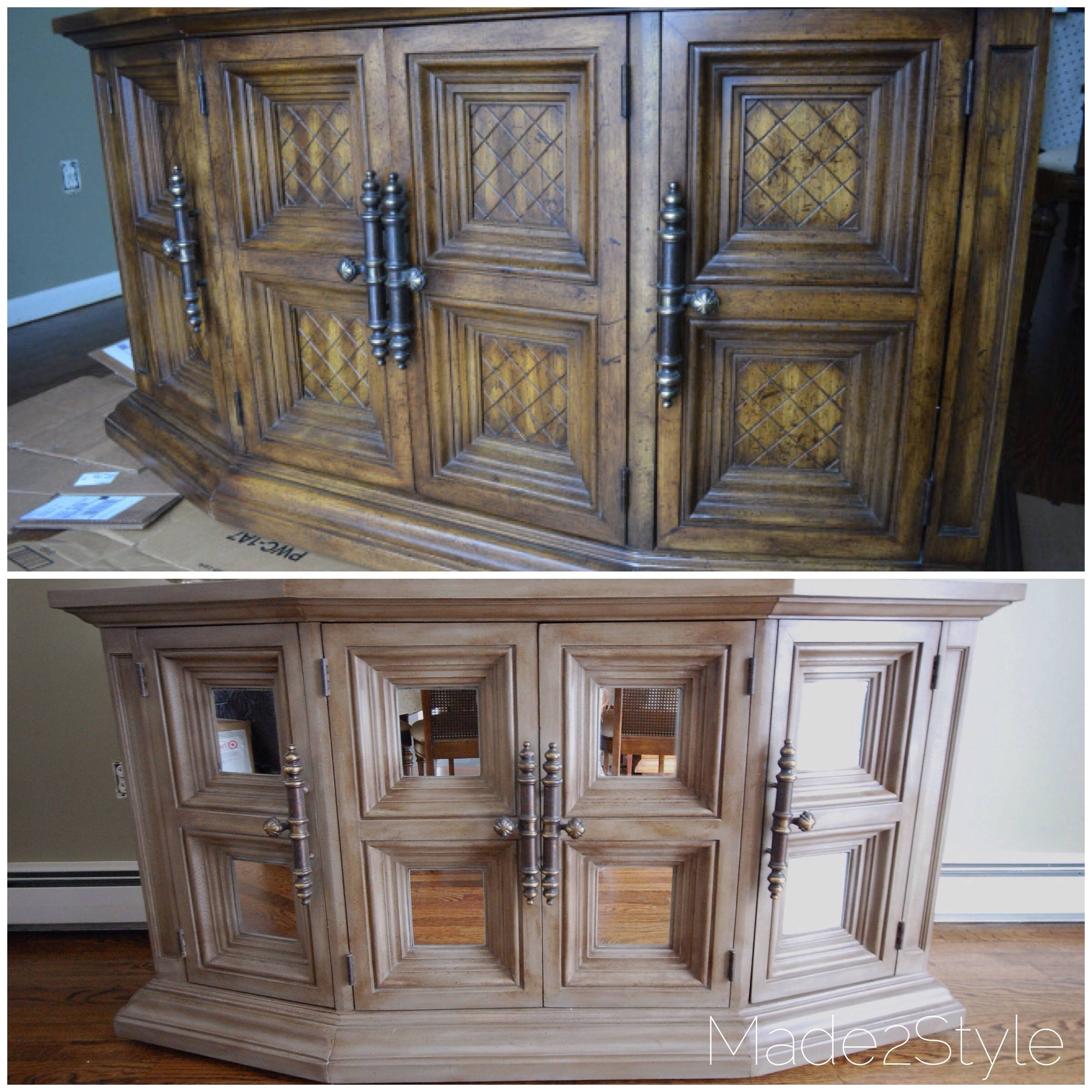 Chalk Painted Buffet Makeover (Rh Inspired) with Chalk Painted Sideboards (Image 6 of 15)